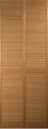 Traditional Hemlock Full-Louvered Bifold H-1423
