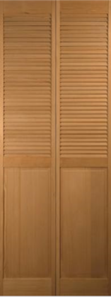 Traditional Hemlock 1/2-Louvered Bifold H-1424