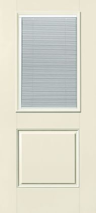 S-6035 Traditional Fiberglass 1/2-Lite w/ Blinds 1-Panel