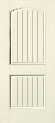 S-205 Rustic Cottage Fiberglass 2-Panel Plank Arched