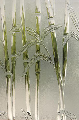 Bamboo Frost Textured Glass