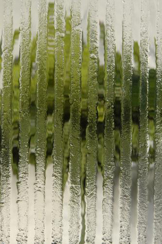 Vertical Slump Textured Glass